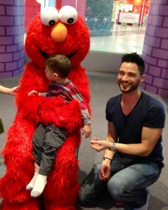 Happy and Tired with Elmo